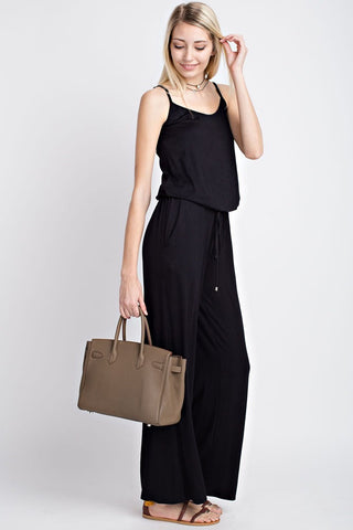 The Liza Jumpsuit in Black