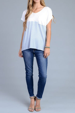 The Pocket Stripe Tee-2 Colors