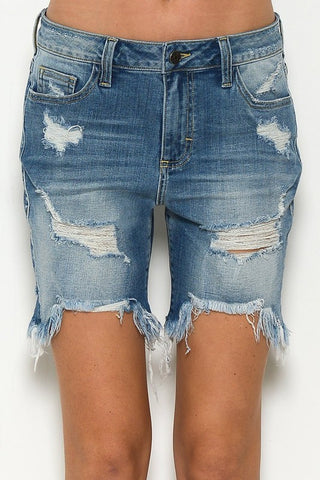 Distressed Betty Shorts