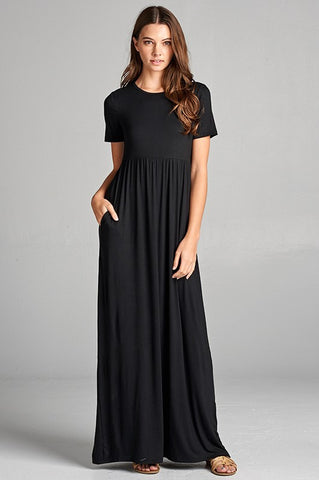 The Short Sleeve Lindy Maxi-5 Colors