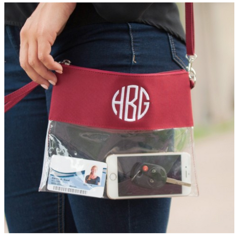 Gameday Clear Zip Pouch-6 Colors