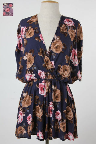 Fab Floral Romper- 2 Colors