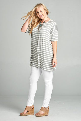 The Oversized Plus Striped Top
