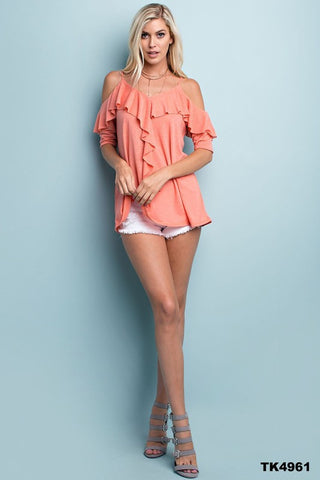 The Sweet Talker Coral Top