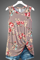 Floral Gathered Tank - 3 Colors