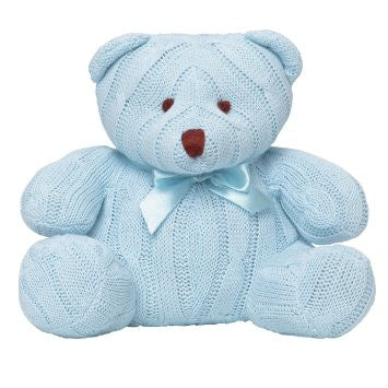 Cable Teddy Bear Blue