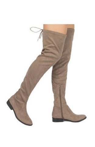 Thigh High Taupe Boots