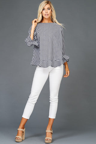 The Fall Check Blouse