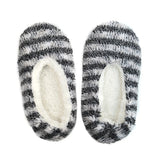 Striped Fuzzy Slippers