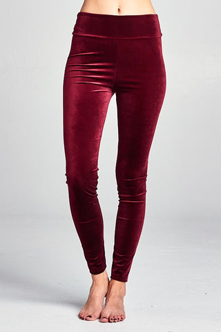 The High Waist Velvet Leggings