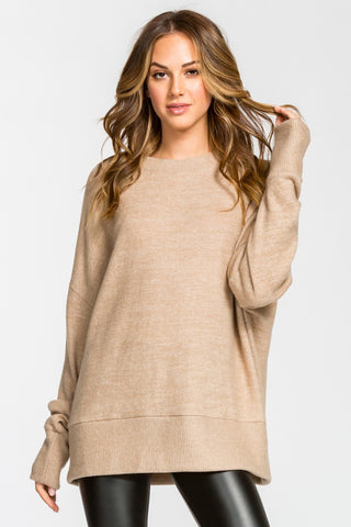 The Blend Top in Taupe