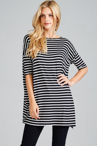 The Oversize Striped Top-4 Colors