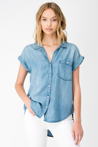 The Lora Denim Top