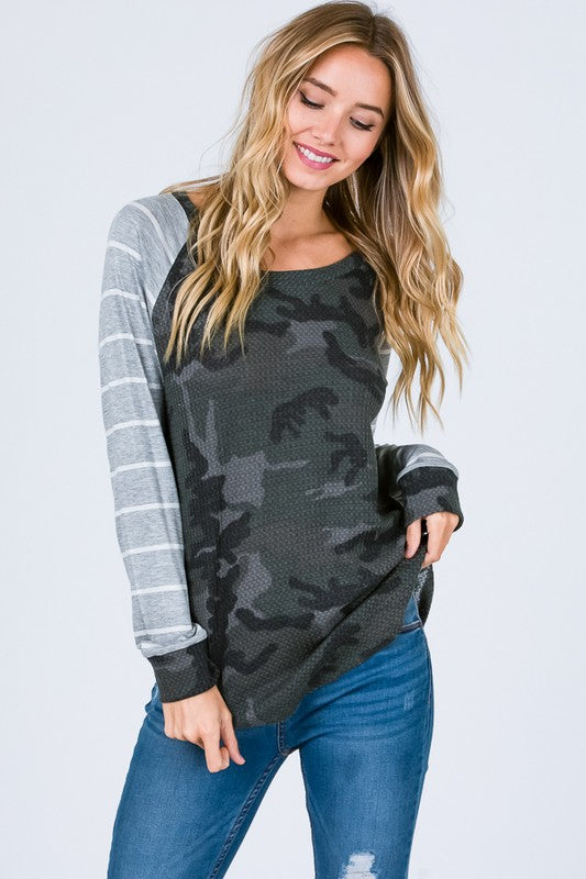 -The Kendall Camo Top
