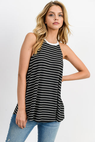 The Perfect Black Halter Tank