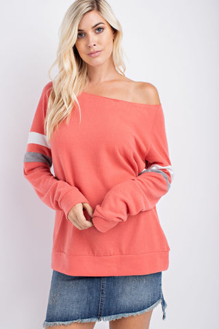 The Varsity Soft Top in Coral