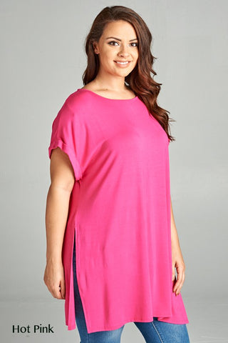 The Curvy Long Tee in 3 Colors