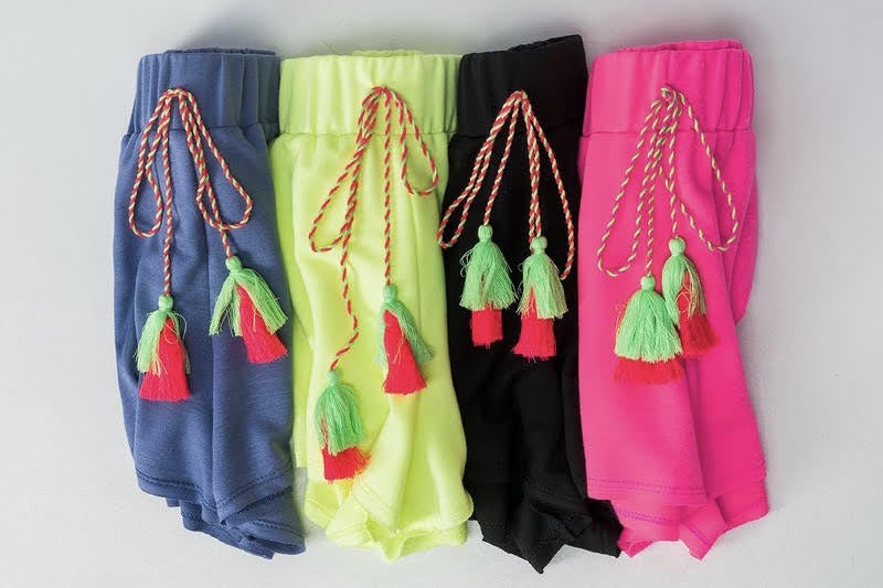The Neon Tassel Shorts in 4 Colors