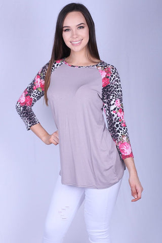 Spots and Flowers Raglan