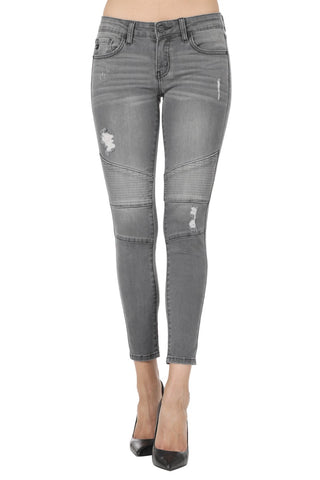 The Grey Kan Moto Jeans