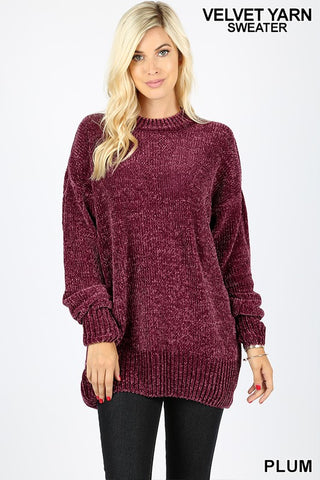 The Perfection Sweater in Plum