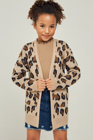 The Mini Leopard Crush Cardigan