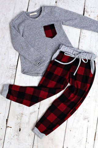 The Buffalo Plaid Pocket Top MINI