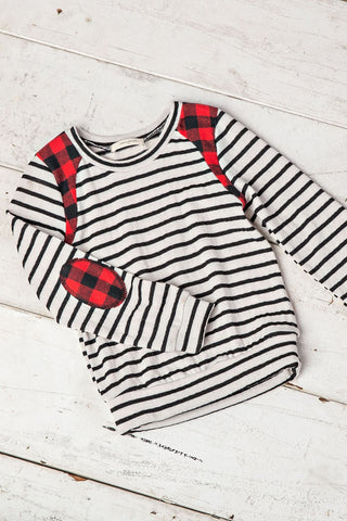 The Mini Striped Patch Top