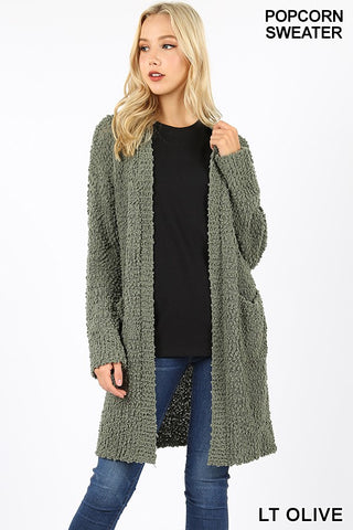 Soft Popcorn Cardigans-9 Colors