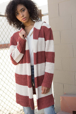 The Ginger Stripe Cardigan