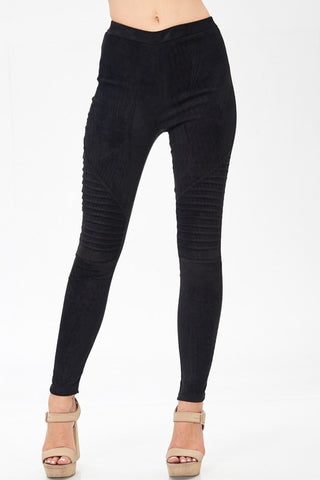 The Suede Moto Leggings