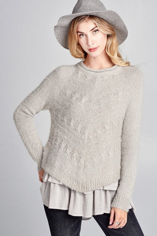 The Grey Layer Sweater Top