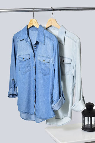 The Dolly Denim Top-2 Colors