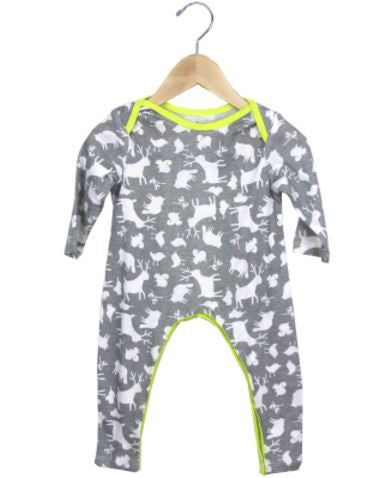 Animal Party Coverall- Grey