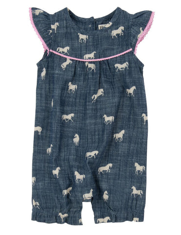 Horses and Flowers Romper