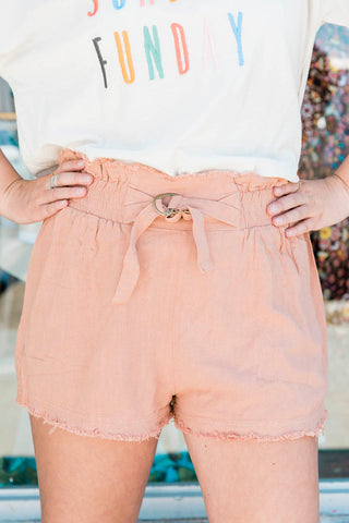 The Frayed Solid Shorts- 2 colors