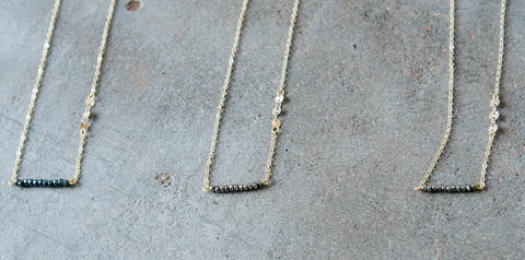 The Sparkly Bar Necklace-3 Colors