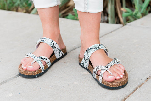 The Birk Sandals in Snake