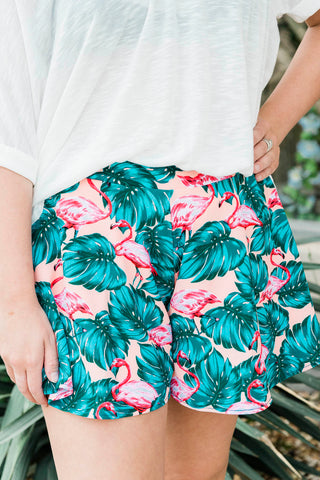 Flamingo Swing Shorts
