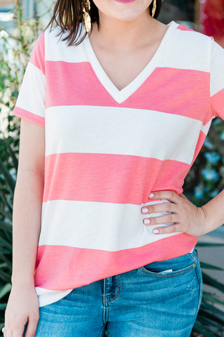 The Summer Striped V-Neck in 4 Colors