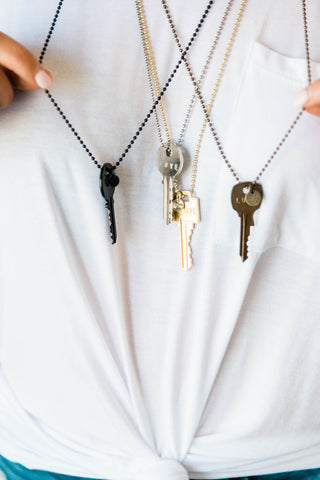 The Giving Key Necklaces in Silver