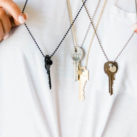 Giving Key Necklaces in Matte Black