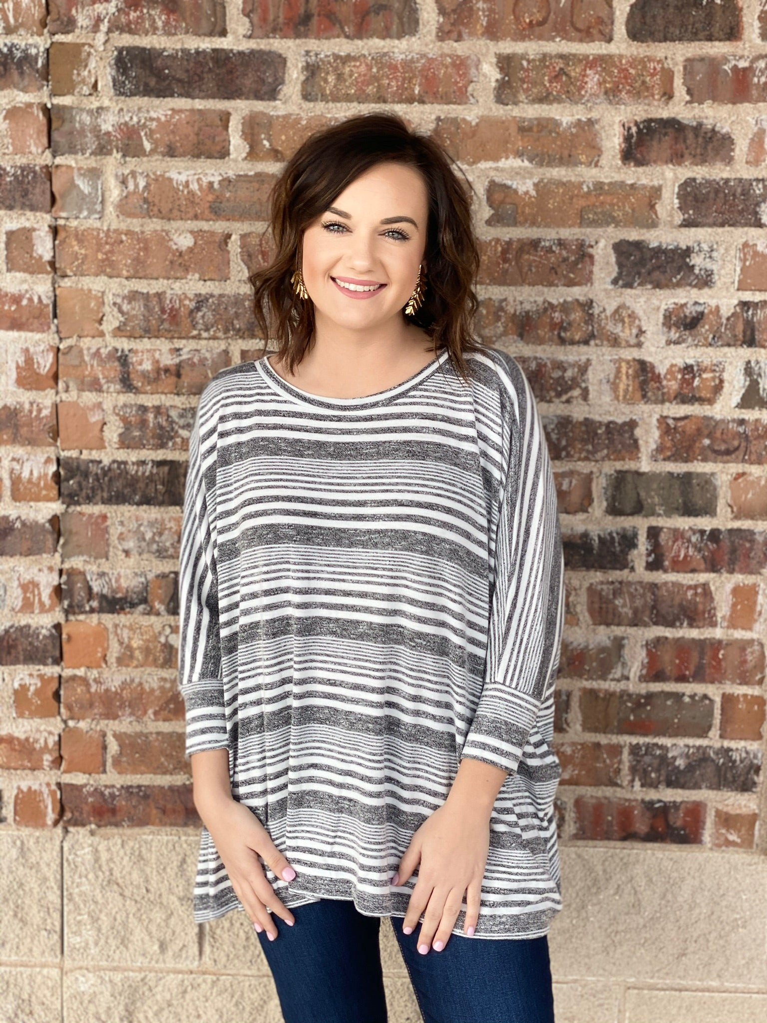 -The Striped Swing Top in 2 Colors