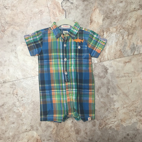 Plaid Fishing Romper