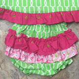 Flamingo Dress with Bloomers