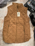 The Camel Quilted Vest