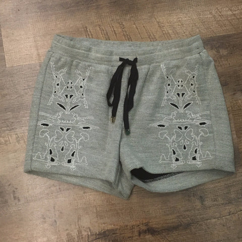 Embroidered Shimmer Shorts