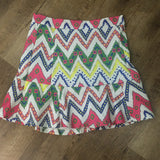 Sassy Chevron Drop Ruffle Skirt