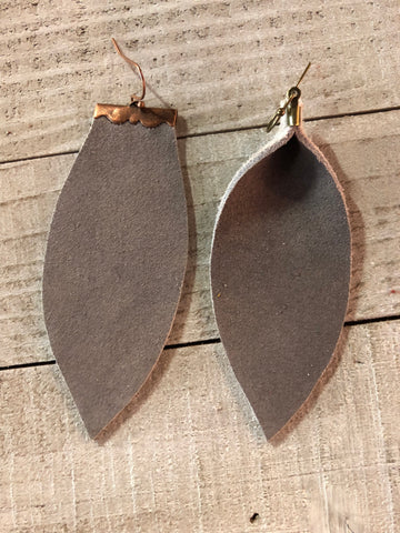 The Taupe Kate Earrings-2 Shapes