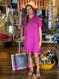 The AB Fuchsia Shirt Dress